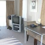 Big TV and sitting area