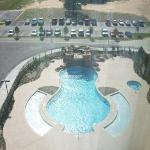 the pool in the morning