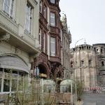 Our hotel steps to Porta Nigra