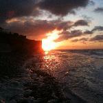 coucher de soleil sur la descenderie
