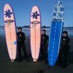 The kids surfing!