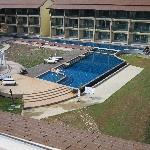 Pool area and construction