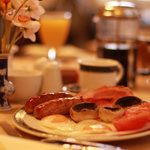 Enjoy a full English Breakast in our cosy breakfast room.