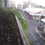 Blick aus dem Balkon