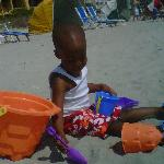 KALEB ENJOYING THE BEACH