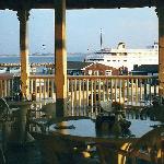 Upper deck overlooking the harbor