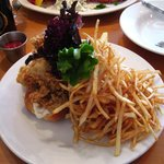 Oyster Roll with Shoestring Fries