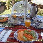 El desayuno despues del temazcalli (nosotros lo pedimos)