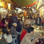 the food court at the Temple Street Night Market