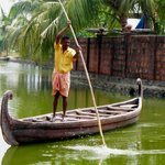 Boatman taking you to the Resort