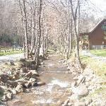 one of the cabins on the creek