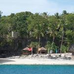 Private beach from the resort