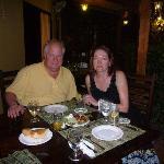 Me & Tim at dinner