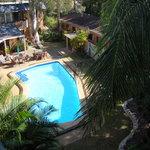 solar heated courtyard pool