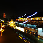 Wuzhen water town at night