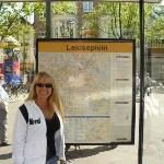 Wendy in Leidseplein Square Amsterdam, Holland
