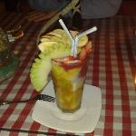 a lovely fruit drink from a seafront restaurant
