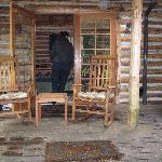 side porch off bedroom