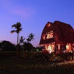 Villa 1 at night