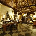 Inside the big villa