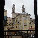 View of the back of the baroque Cathedral from our room