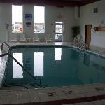 Pool at the Comfort Inn. Warm and pretty full
