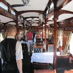 One of the Rovos Dinning Cars
