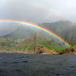 Na Pali Double Rainbows