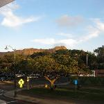 The view of Diamond Head from the bar.