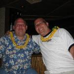 My partner & I at the bar.  See, you really can get a lei at Hula's!  No pun intended!  LOL!