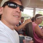 my husband w/ cashew wine