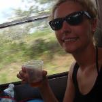 me w/ cashew wine, if I look nevous, its because I was!