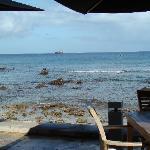 vu de la mer depuis le resto