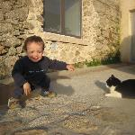 Eduardo disfrutó del jardin y sus habitantes