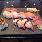 mon assiette de 100%sushi, magnifique !