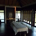 intérieur d'un pavillon du spa