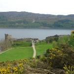 castle ruins at the Loch Ness