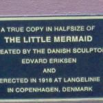 A close-up of the plaque below