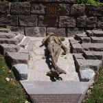 Replica de la escultura del campo de concentración Natzweiler - Struthof (Bas-Rhin)