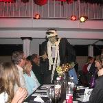 """""""The Mummy"""" is all wrapped up in his visiting with dinner guests in """"Dracula's Grand Masquerade"""