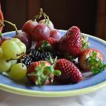 地元産新鮮なフルーツ
