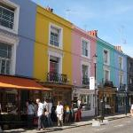 Le case colorate a Portobello road