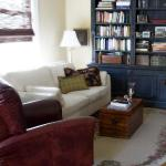 The library end of our guest lounge.