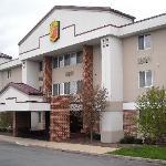 Outside of motel