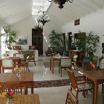 Dining area for breakfast