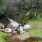 Me sitting on the rock, enjoying the surroundings