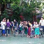 Mit dem Rad zum nahegelegenen Markt