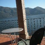 Shared hotel terrace