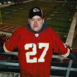 Me at Arrowhead Stadium (Home of the Kansas City Chiefs), Kansas City, Missouri