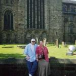 Me and my mam at Durham Cathedral, Durham, UK